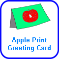 Rosh Hashanah Apple Print Greeting Card
