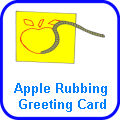apple rubbing greeting card