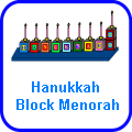 Hanukkah Block Menorah