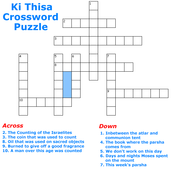Ki Thisa Crossword Puzzle Game for children