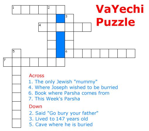 VaYechi Puzzle
