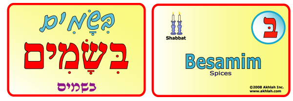 Spices [Hebrew] - Hebrew flash card to print out and use to help you gain one Hebrew word each day