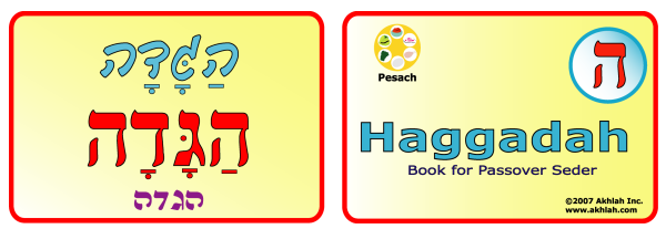 Haggadah [Hebrew] - Hebrew flash card to print out and use to help you gain one Hebrew word each day